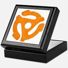 Orange Distressed 45 RPM Adapter Keepsake Box
