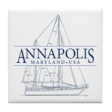 Annapolis Sailboat - Tile Coaster