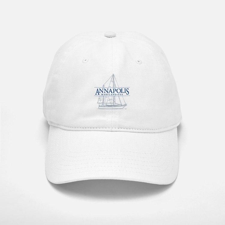 Annapolis Sailboat - Baseball Baseball Cap