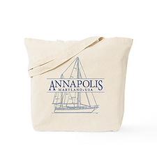 Annapolis Sailboat - Tote or Beach Bag