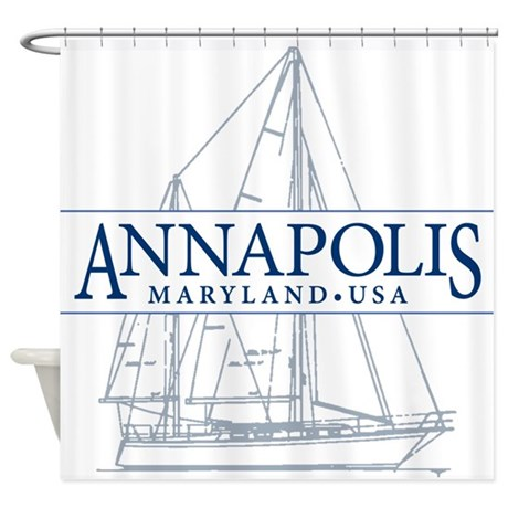 annapolis sailboat shower curtain