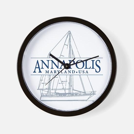 Annapolis Sailboat - Wall Clock