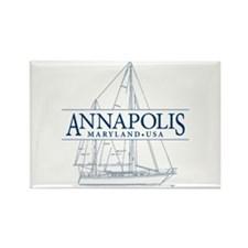 Annapolis Sailboat - Rectangle Magnet