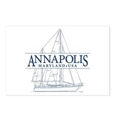 Annapolis Sailboat - Postcards (Package of 8)