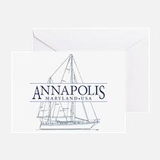 Annapolis Sailboat - Greeting Card
