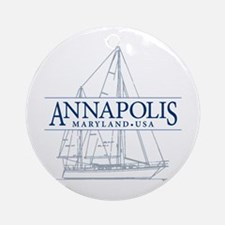 Annapolis Sailboat - Ornament (Round)