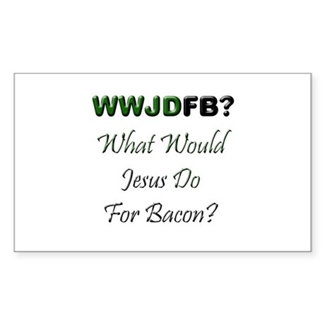 Jesus Bacon Rectangle Sticker