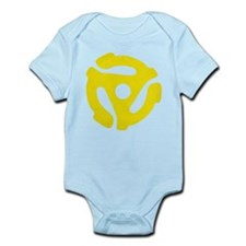 Yellow Distressed 45 RPM Adapter Infant Bodysuit