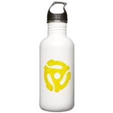 Yellow Distressed 45 RPM Adapter Water Bottle