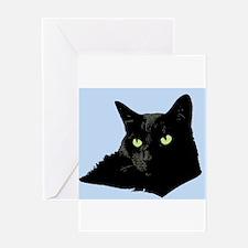 Diva Kitty Greeting Card