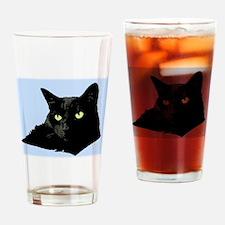 Diva Kitty Drinking Glass