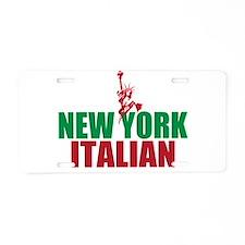 New York Italian Aluminum License Plate