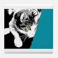 Playful Kitty Tile Coaster