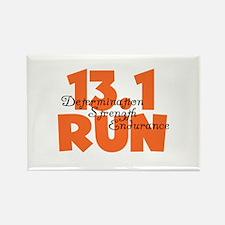 13.1 Run Orange Rectangle Magnet