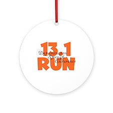 13.1 Run Orange Ornament (Round)