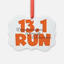 13.1 Run Orange Ornament