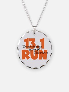 13.1 Run Orange Necklace