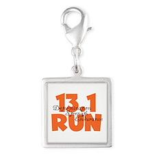 13.1 Run Orange Silver Square Charm
