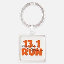 13.1 Run Orange Square Keychain