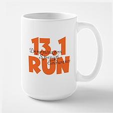 13.1 Run Orange Large Mug