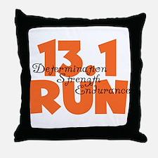 13.1 Run Orange Throw Pillow