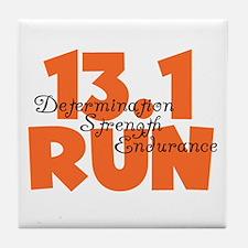 13.1 Run Orange Tile Coaster