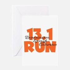 13.1 Run Orange Greeting Card