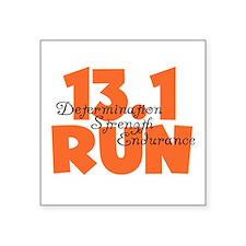 """13.1 Run Orange Square Sticker 3"""" x 3"""""""