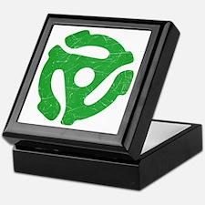 Green Distressed 45 RPM Adapter Keepsake Box