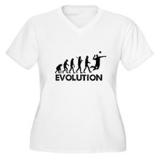 Evolution of a Volleyball Player Plus Size T-Shirt