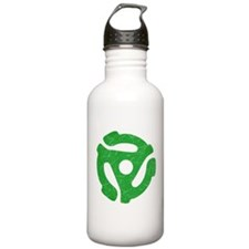 Green Distressed 45 RPM Adapter Water Bottle