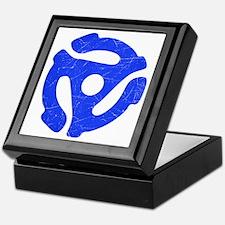 Blue Distressed 45 RPM Adapter Keepsake Box