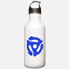 Blue Distressed 45 RPM Adapter Water Bottle