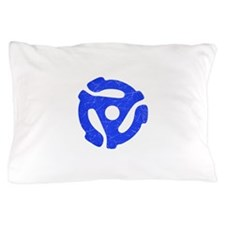 Blue Distressed 45 RPM Adapter Pillow Case
