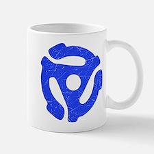Blue Distressed 45 RPM Adapter Mug