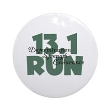 13.1 Run Teal Green Ornament (Round)
