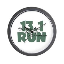 13.1 Run Teal Green Wall Clock
