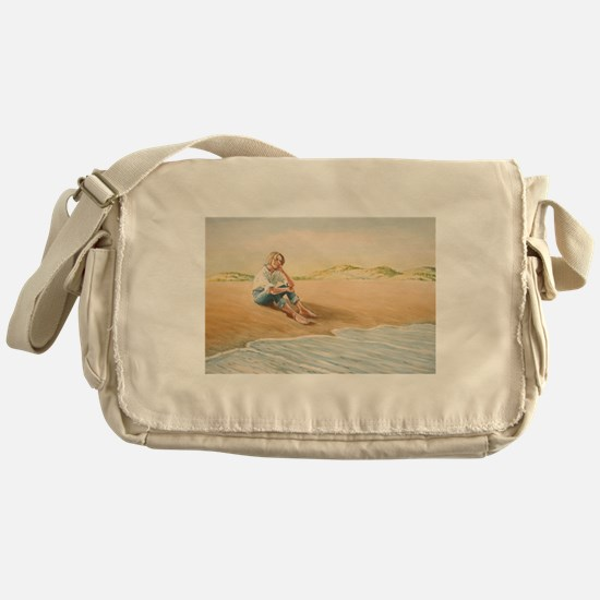 Woman on the Beach Messenger Bag