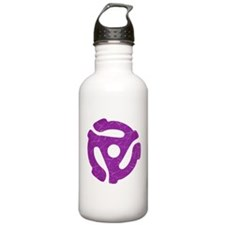 Purple Distressed 45 RPM Adapter Water Bottle