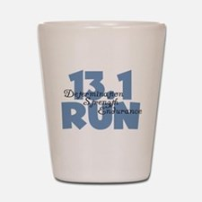 13.1 Run Blue Shot Glass