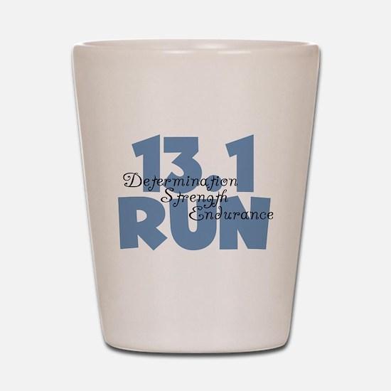 13.1 Run Blue Shot Glass