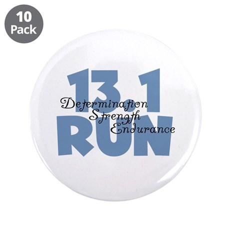 "13.1 Run Blue 3.5"" Button (10 pack)"