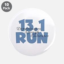 """13.1 Run Blue 3.5"""" Button (10 pack)"""