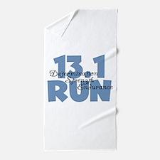 13.1 Run Blue Beach Towel