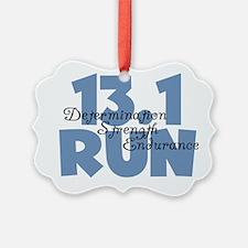 13.1 Run Blue Ornament