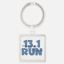 13.1 Run Blue Square Keychain