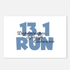 13.1 Run Blue Postcards (Package of 8)