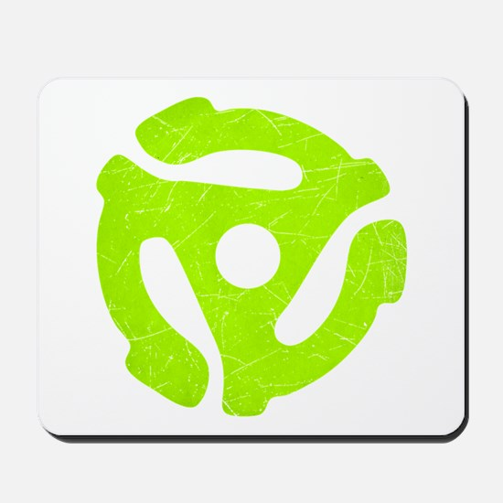 Lime Green Distressed 45 RPM Mousepad
