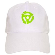 Lime Green Distressed 45 RPM Adapter Baseball Cap