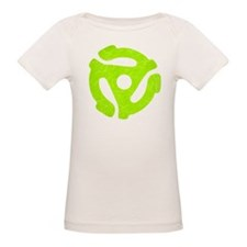 Lime Green Distressed 45 RPM Adapter Tee